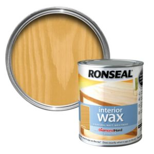 Ronseal Interior Diamond Hard Antique Pine Matt Wood Wax 750ml