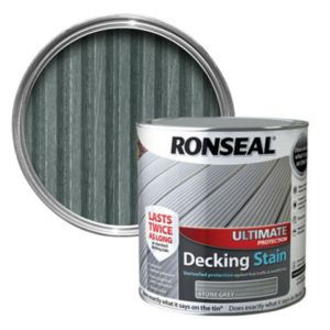 View Ronseal Ultimate Protection Stone Grey Matt Finish Decking Stain 2.5L details