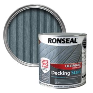View Ronseal Ultimate Protection Slate Matt Finish Decking Stain 2.5L details