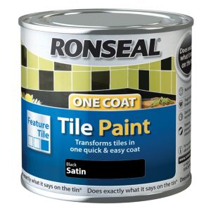 Ronseal Tile paints Black Satin Tile paint0.25L