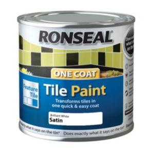 Ronseal Tile Paints Brilliant White Satin Tile Paint0.25L