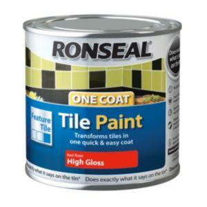Ronseal Tile Paints Rose High Gloss Tile Paint0.25L