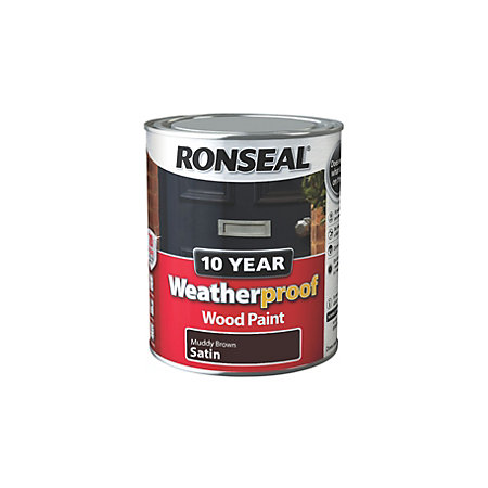 Ronseal Muddy Brown Satin Wood Paint 750ml Departments Diy At B Q