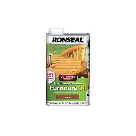 Ronseal ultimate natural hardwood garden furniture oil 1l for Gardening naturally coupon