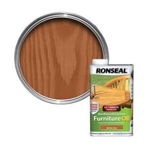 Ronseal Ultimate Natural Teak Hardwood Garden Furniture Oil 1L