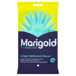 Image of Marigold Latex Bathroom Gloves Medium