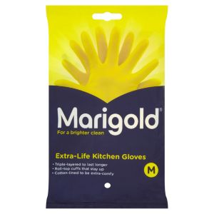 View Marigold Yellow Plastic Gloves Pack of 1 details