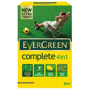 View Evergreen ® Complete 4 In 1 Lawn Feed, Weed & Moss Killer 2.8kg details
