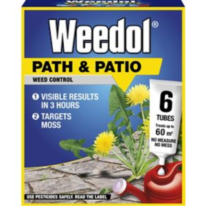 Image of Weedol Path & patio Concentrated Weed killer 0.13L 0.12kg Pack of 6