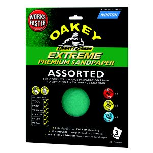 View Oakey Assorted Sanding Sheet, Pack of 3 details
