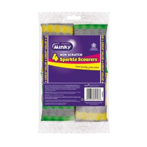 View Minky Multicolour Nylon Scourer Pad Pack of 4 details