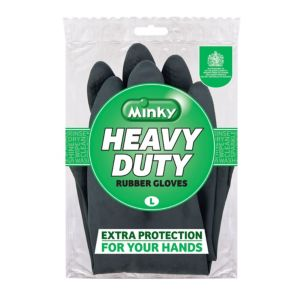 View Minky Black Latex Gloves Pack of 1 details