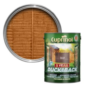 Image of Cuprinol 5 Year Ducksback Harvest brown Shed & fence treatment 5L