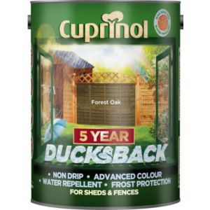 View Cuprinol Ducksback Forest Oak Shed & Fence Treatment 5L details