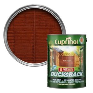 View Cuprinol Ducksback Rich Cedar Shed & Fence Treatment 5L details