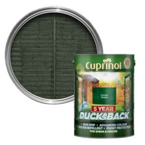 Image of Cuprinol 5 Year Ducksback Forest green Shed & fence treatment 5L
