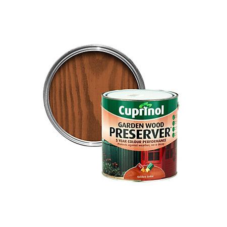 Cuprinol golden cedar matt garden wood preserver 4000ml Cuprinol trade exterior wood preserver