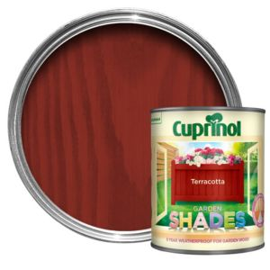 View Cuprinol Garden Shades Terracotta Wood Paint 1L details