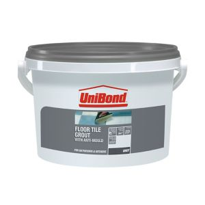 Image of UniBond Grey Ready mixed Floor tile Grout 3.75kg
