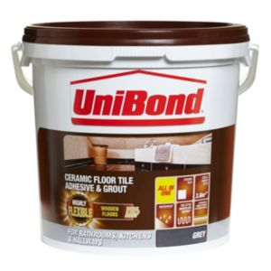 View Unibond Grey Flexible Ready Mixed Floor Tile Adhesive & Grout 14.3 kg details