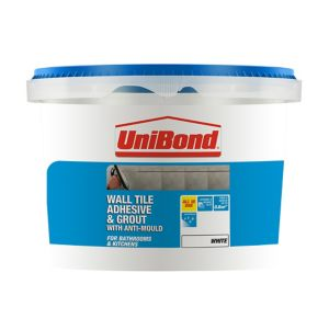 Image of UniBond Ready mixed White Wall Tile Adhesive & grout 1.38kg