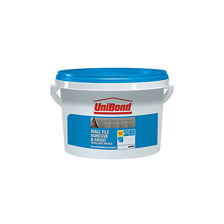 Unibond Ready To Use Wall Tile Adhesive Amp Grout White 6