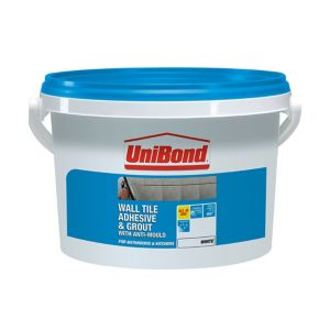 Image of UniBond Ready mixed White Wall Tile Adhesive & grout 6.4kg