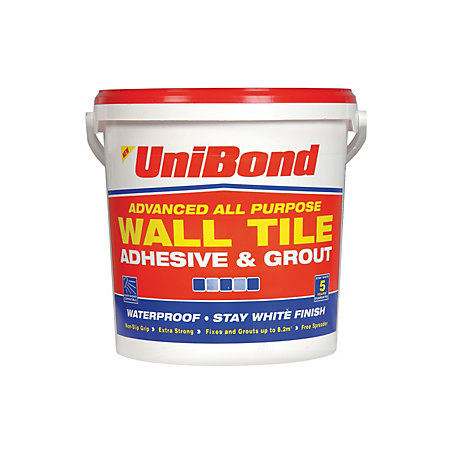 Unibond Ready To Use Wall Tile Adhesive Amp Grout White 12