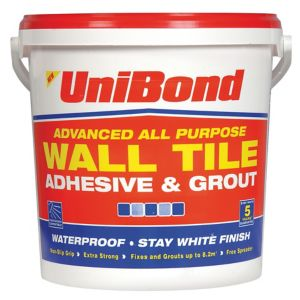 Image of UniBond Ready mixed White Wall Tile Adhesive & grout 12.8kg