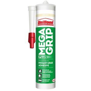 Image of UniBond Megagrip Solvent-free Beige Grab adhesive 300ml