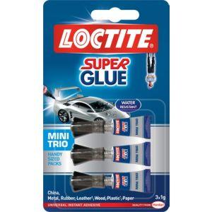 Loctite Mini Trio Superglue 1G  Pack of 3