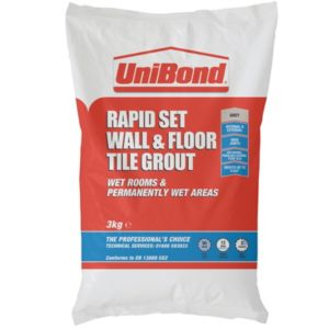 View Unibond Rapid Set Grey Powder Grout (W)3kg details