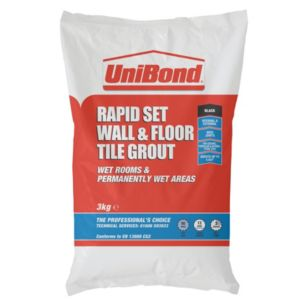 View Unibond Rapid Set Black Powder Grout (W)3kg details