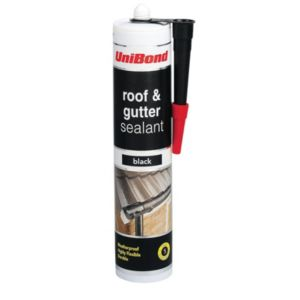 View Unibond Black Flexible Roof & Gutter Sealant 300ml details