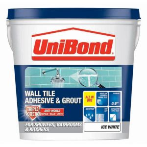 View Unibond Ice White Ready Mixed Wall Tile Adhesive & Grout 1.28 kg details