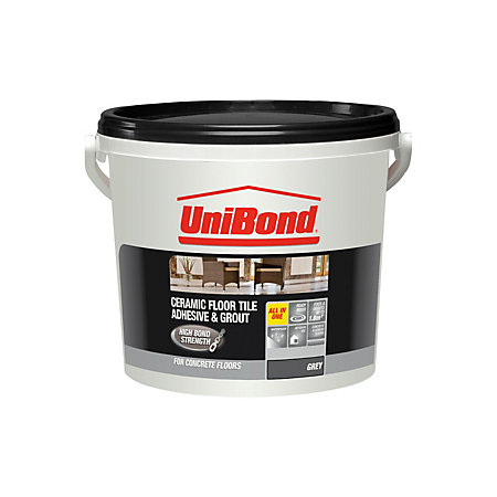 Unibond Ready To Use Floor Tile Adhesive Amp Grout Grey 7