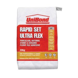 View Unibond Ultra Flex Grey Floor & Wall Adhesive (W)20kg details