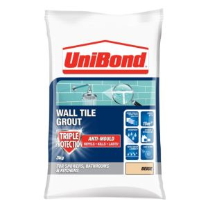 Image of UniBond Beige Powder grout (W)3kg