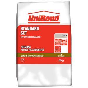 Image of UniBond Powder Floor tile adhesive Grey 20kg