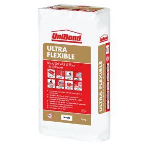 UniBond Ultra flex Powder Wall & floor tile adhesive White 20kg