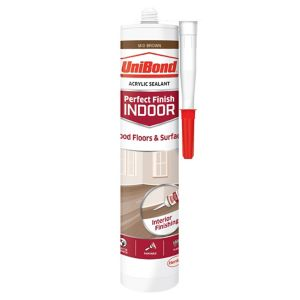 Image of UniBond Perfect finish Mid brown Floor Sealant 300ml