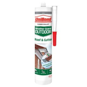 Image of UniBond Weather Guard Outdoor Grey Roof & gutter sealant 300 ml