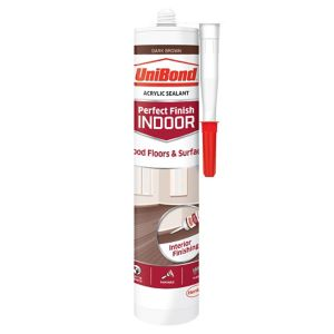 Image of UniBond Perfect finish Dark brown Floor Sealant 300ml
