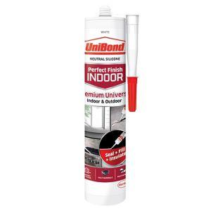 Image of UniBond Perfect finish White Silicone-based General-purpose Sealant 300ml
