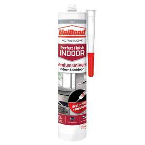 Image of UniBond Perfect finish Grey Silicone-based General-purpose Sealant 300ml
