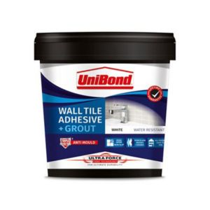 Image of Unibond UltraForce Ready mixed Ice white Wall Tile Adhesive & grout 1.38kg