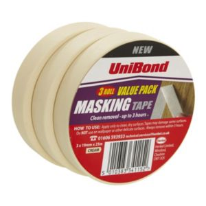 View Unibond Masking Tape 19mm x 25m, Pack of 3 details