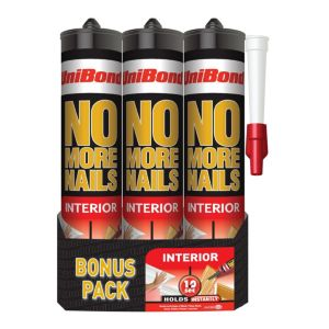 View Unibond No More Nails Original Grab Adhesive 300ml, Pack of 3 details
