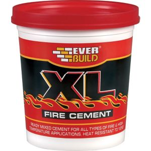 Image of Everbuild Ready Mixed Fire Cement 1kg Resealable Plastic Tub