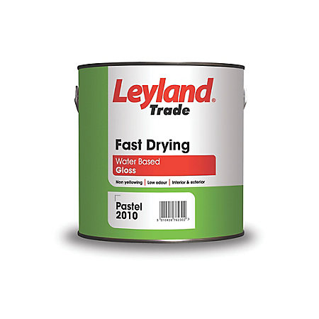 Leyland trade interior exterior white gloss wood metal paint 2 5l departments diy at b q - Exterior white gloss paint image ...